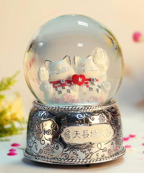 天长地久水晶球音乐盒
