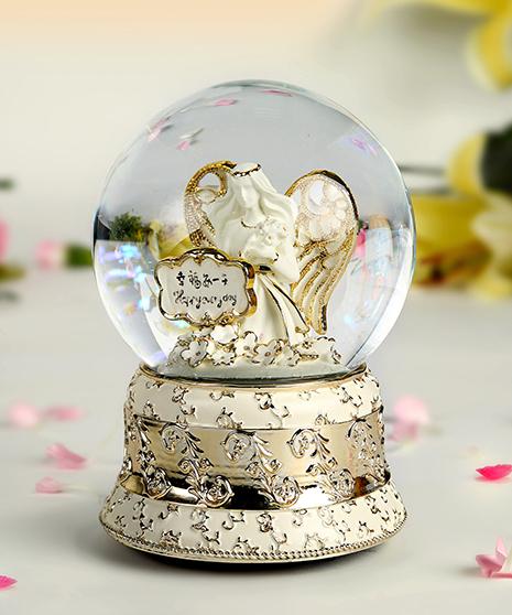 乐加幸福每一天金色水晶球音乐盒