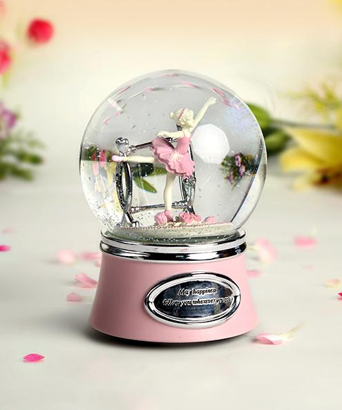 乐加芭蕾女孩水晶球音乐盒