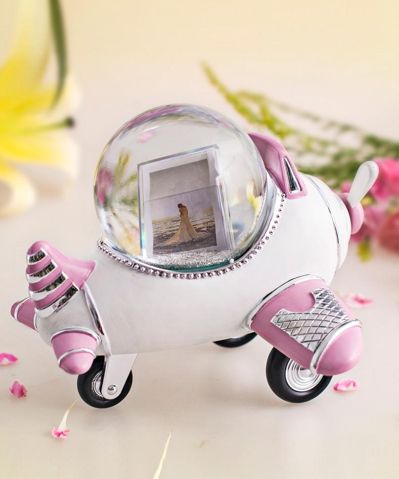 飞机相框水晶球音乐盒