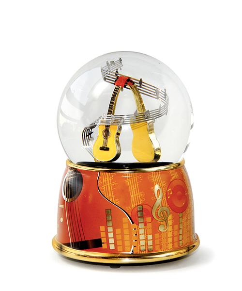 吉他水晶球音乐盒
