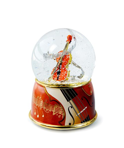 小提琴水晶球音乐盒