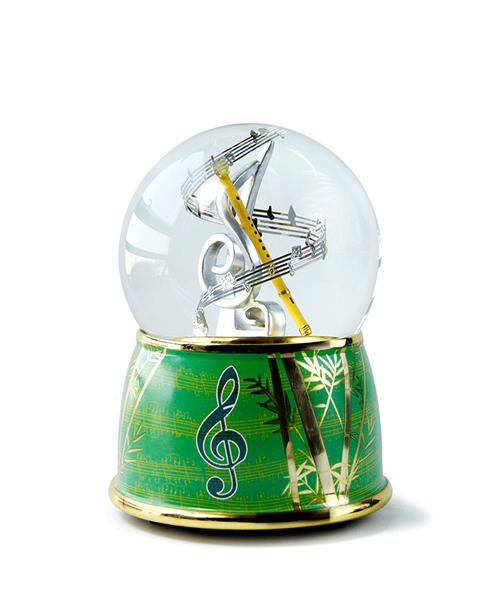 竹笛水晶球音乐盒