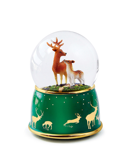 麋鹿水晶球音乐盒