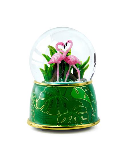 火烈鸟水晶球音乐盒
